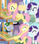 Size: 1364x1524 | Tagged: safe, edit, edited screencap, screencap, fluttershy, rarity, pony, the ending of the end, spoiler:s09e24, canterlot, comic, dialogue, food stand, screencap comic, shocked, speech bubble, suddenly, surprised, vendor