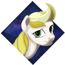 Size: 3000x3000 | Tagged: artist:xxcrazzzyxx, digital art, female, gift art, green eyes, mare, oc, oc:dandelion blossom, oc only, pegasus, pony, safe, solo, space