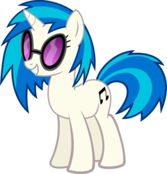 Size: 3846x4000 | Tagged: artist:namelesshero2222, dj pon-3, pony, safe, simple background, solo, transparent background, vector, vinyl scratch