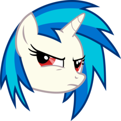 Size: 4040x4055 | Tagged: absurd res, artist:namelesshero2222, bust, dj pon-3, pony, portrait, red eyes, safe, simple background, solo, transparent background, unicorn, vector, vinyl scratch, wrong eye color