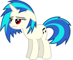 Size: 8019x6533 | Tagged: absurd res, artist:namelesshero2222, dj pon-3, pony, red eyes, safe, simple background, solo, transparent background, unicorn, vector, vinyl scratch, wrong eye color