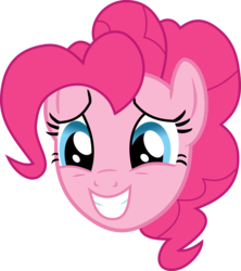 Size: 7087x7980 | Tagged: absurd res, artist:namelesshero2222, bust, pinkie pie, pony, portrait, safe, simple background, solo, transparent background, vector