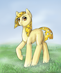 Size: 475x565 | Tagged: safe, artist:170th, oc, food pony, original species, pony, cheese, food, ponified