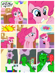 Size: 2400x3200 | Tagged: artist:capital_t, bedroom, maud pie, oc, oc:anon, pinkie pie, pony, roleplaying, safe, show accurate