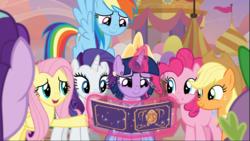 Size: 1669x939   Tagged: safe, screencap, applejack, fluttershy, pinkie pie, rainbow dash, rarity, spike, starlight glimmer, twilight sparkle, alicorn, dragon, earth pony, pegasus, pony, unicorn, the last problem, applejack's hat, book, clothes, coronation dress, cowboy hat, cropped, crown, cute, dress, female, flying, glowing horn, group, hat, horn, jewelry, levitation, magic, male, mane eight, mane six, mare, open mouth, raised hoof, regalia, second coronation dress, smiling, telekinesis, twilight sparkle (alicorn)