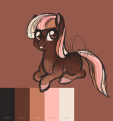 Size: 2800x3000 | Tagged: :3, adoptable, artist:hippykat13, body markings, colored hooves, color palette, cute, digital art, earth pony, food, ice cream, multicolored hair, neapolitan, obtrusive watermark, oc, :p, pony, safe, sketch, solo, tongue out, watermark