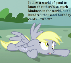 Size: 729x648   Tagged: safe, edit, edited screencap, screencap, derpy hooves, pony, no second prances, cropped, exhausted, link in description, speech, tongue out