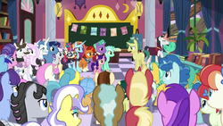 Size: 1920x1080 | Tagged: amethyst star, background pony, chancellor neighsay, citrine spark, citrus bit, clever musings, colt, cookie crumbles, dandy dispatch, dawnlighter, fancypants, female, filly, firelight, fire quacker, fleur-de-lis, friendship student, green sprout, hondo flanks, indigo daze, jet set, lemon hearts, lyra heartstrings, male, mare, minuette, moondancer, night light, november rain, party favor, pony, princess celestia's school for gifted unicorns, rainberry, rainbow stars, raspberry dazzle, safe, sassy saddles, snails, snips, sparkler, spoiler:s09e25, stallion, stellar flare, sweetie belle, the ending of the end, tune-up, twilight velvet, twinkleshine, unicorn, upper crust