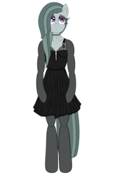 Size: 3200x4800 | Tagged: alternate version, anthro, arm hooves, artist:fascismnotincluded, choker, clothes, dress, evening gloves, eyeshadow, gloves, high res, long gloves, makeup, marble pie, safe, simple background, solo, stockings, thigh highs, transparent background, unguligrade anthro, vector
