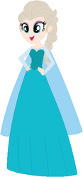 Size: 265x565 | Tagged: artist:selenaede, artist:user15432, barely eqg related, base used, blue dress, cape, clothes, crossover, disney, disney princess, dress, elsa, equestria girls, equestria girls-ified, equestria girls style, frozen (movie), gown, human, safe, snow queen