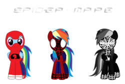 Size: 755x506 | Tagged: angry, artist:dashiesparkle, artist:kayman13, artist:kired25, black suit, black suit spider-man, clothes, costume, edit, emo, frown, happy, human spider, rainbow dash, safe, simple background, smiling, spider-man, suit, symbiote spider-man, text, transparent background, vector, vector edit