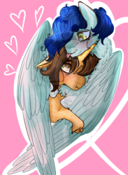 Size: 1433x1953 | Tagged: artist:grateful-dead-raised, canon couple, care root, curly winds, equestria girls, equestria girls ponified, gay, male, pegasus, ponified, pony, safe, shipping, some blue guy, unicorn, wiz kid, wizwinds