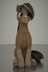 Size: 1707x2560 | Tagged: safe, artist:gammahoof, oc, oc only, oc:cinnamon spice, earth pony, pony, 3d, blender, female, mare, sitting