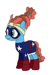 Size: 1795x2677 | Tagged: safe, artist:eagc7, meadowbrook, pony, clothes, commission, costume, dc comics, female, mare, shoes, simple background, solo, stargirl, transparent background