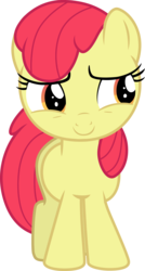 Size: 2058x3836 | Tagged: absurd resolution, accessory-less edit, apple bloom, artist:tomfraggle, earth pony, edit, editor:slayerbvc, female, filly, missing accessory, pony, safe, simple background, smiling, solo, transparent background, vector, vector edit