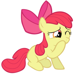 Size: 7000x7000 | Tagged: apple bloom, artist:tardifice, bow, earth pony, female, filly, hair bow, safe, simple background, solo, transparent background, vector