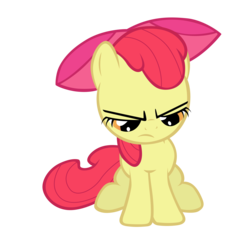 Size: 7000x6823 | Tagged: apple bloom, artist:tardifice, bow, earth pony, female, filly, grumpy, hair bow, looking down, safe, simple background, solo, transparent background, vector