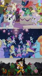 Size: 1032x1862 | Tagged: safe, screencap, boyle, capper dapperpaws, captain celaeno, derpy hooves, gilda, lix spittle, mullet (character), murdock, ocean flow, pharynx, princess skystar, queen novo, silverstream, tempest shadow, terramar, thorax, twilight velvet, zecora, anthro, changedling, changeling, griffon, parrot pirates, seapony (g4), my little pony: the movie, the ending of the end, spoiler:s09e24, spoiler:s09e25, king thorax, pirate, prince pharynx
