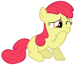 Size: 7000x6006 | Tagged: accessory-less edit, apple bloom, artist:tardifice, earth pony, edit, editor:slayerbvc, female, filly, missing accessory, safe, simple background, solo, transparent background, vector, vector edit