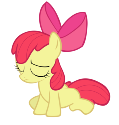 Size: 6703x7000 | Tagged: apple bloom, artist:tardifice, bow, earth pony, female, filly, hair bow, sad, safe, simple background, solo, transparent background, vector