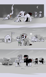 Size: 3000x5000 | Tagged: safe, artist:ivyredmond, oc, oc only, pony, fallout equestria, comic, fallout, fallout: new vegas, ncr, ncr ranger, ranger