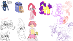 Size: 1920x1080 | Tagged: anime, artist:embroidered equations, artist:galinn-arts, artist:littlepony115, bon bon, clothes, dj pon-3, doctor whooves, drawpile, drawpile disasters, female, flower, gabby, griffon, human, male, mare, mlpds, oc, oc:solar eclipse, pinkie pie, pony, rarity, safe, socks, spike, stallion, stockings, sweetie drops, tempest shadow, thigh highs, time turner, vinyl scratch, yak, yona