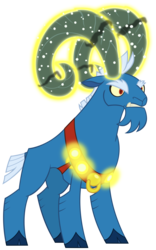 Size: 6553x10521 | Tagged: safe, artist:andoanimalia, grogar, absurd resolution, cloven hooves, colored hooves, magic, male, ram, simple background, solo, transparent background