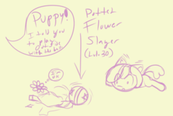 Size: 500x335 | Tagged: artist:retl, ball, broken, earth pony, eye clipping through hair, female, filly, flower, flower pot, oc, oc:puppysmiles, oc:rainy days, pony, prone, safe, sketch, speech bubble, thought bubble