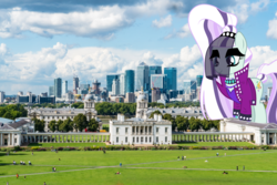 Size: 1280x854 | Tagged: artist:jhayarr23, coloratura, countess coloratura, female, giantess, giant pony, highrise ponies, irl, macro, photo, ponies in real life, pony, safe, united kingdom