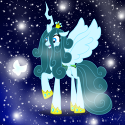 Size: 1000x1000 | Tagged: alternate design, alternate hairstyle, alternate timeline, alternate universe, alternate version, artist:dashiesparkle, artist:katya, edit, queen chrysalis, reformed, safe
