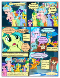 Size: 612x792 | Tagged: artist:newbiespud, auburn vision, background pony, background pony audience, berry blend, berry bliss, candy grapes, changedling, changeling, citrine spark, classical hippogriff, colt, comic, comic:friendship is dragons, cozy glow, crossed arms, dawnlighter, dialogue, dragon, dragoness, earth pony, edited screencap, female, filly, fire flicker, fire quacker, flying, freckles, friendship student, frown, gallus, golden crust, goldy wings, green sprout, griffon, hippogriff, huckleberry, indigo daze, magic, magic circle, male, mare, midnight snack (character), november rain, ocarina green, ocellus, pegasus, peppermint goldylinks, pointing, pony, raised hoof, safe, sandbar, school raze, screencap, screencap comic, silverstream, smolder, stallion, strawberry scoop, student six, sugar maple, summer breeze, summer meadow, teenager, tune-up, unamused, unicorn, worried, yak, yona