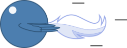 Size: 266x101 | Tagged: artist:mega-poneo, ball, crossover, female, mare, motion lines, night glider, pegasus, pony, rolling, safe, solo, sonic the hedgehog (series), spin dash, spread wings, wings