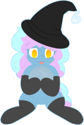 Size: 1437x2124 | Tagged: artist:veila-arts, clothes, female, hat, mare, oc, oc:astral knight, oc only, safe, simple background, socks, solo, tongue out, transparent background, witch hat