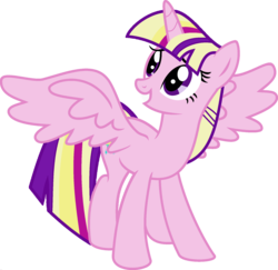 Size: 1920x1870 | Tagged: safe, artist:kamyk962, edit, vector edit, princess cadance, twilight sparkle, alicorn, pony, ponyar fusion, fusion, palette swap, recolor, simple background, transparent background, twilight sparkle (alicorn), vector