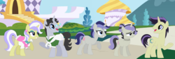 Size: 1903x649 | Tagged: safe, artist:z-shadow-0, jet set, upper crust, pony, family, female, male, offspring, parent:jet set, parent:upper crust, parents:upperset, shipping, straight, upperset