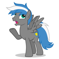 Size: 894x894 | Tagged: safe, artist:oblivionfall, oc, oc only, oc:cloud zapper, pegasus, pony, simple background, solo, transparent background