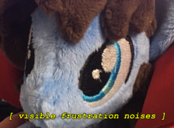 Size: 523x385 | Tagged: artist:gingerale2016, bust, cute, descriptive noise, irl, oc, ocbetes, oc:bizarre song, photo, plushie, portrait, safe, text