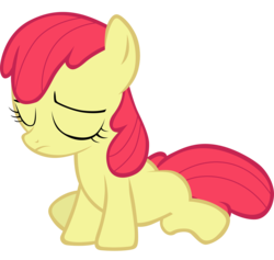 Size: 5553x5271 | Tagged: accessory-less edit, apple bloom, artist:tardifice, earth pony, edit, editor:slayerbvc, female, filly, missing accessory, pony, sad, safe, simple background, solo, transparent background, vector, vector edit