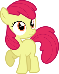 Size: 3846x4785 | Tagged: absurd resolution, accessory-less edit, apple bloom, artist:estories, earth pony, edit, editor:slayerbvc, female, filly, missing accessory, pony, safe, simple background, solo, transparent background, vector, vector edit