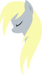Size: 3000x5368 | Tagged: artist:xpesifeindx, bust, derpy hooves, minimalist, modern art, portrait, safe, simple background, solo, transparent background, vector
