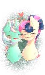 Size: 1080x1804 | Tagged: artist:cometsparke, bon bon, digital art, earth pony, eyes closed, female, lesbian, lyrabon, lyra heartstrings, older, older bon bon, older lyra heartstrings, open mouth, pony, safe, shipping, spoiler:s09e26, sweetie drops, the last problem, unicorn