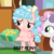 Size: 768x768 | Tagged: safe, edit, edited screencap, screencap, cozy glow, sweetie belle, pegasus, pony, unicorn, marks for effort, best pony, female, filly