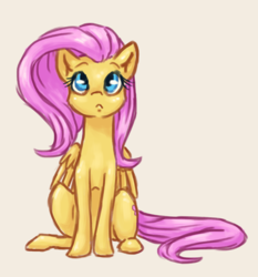 Size: 1222x1310 | Tagged: artist:eternalsubscriber, cute, female, fluttershy, gray background, mare, pegasus, pony, safe, shyabetes, simple background, sitting, solo