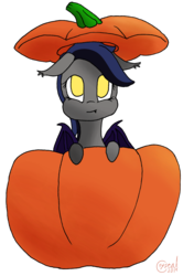 Size: 2112x3189 | Tagged: artist:alicorn-without-horn, bat pony, pumpkin, safe