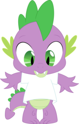 Size: 2292x3579 | Tagged: artist:porygon2z, clothes, dragon, edit, safe, shirt, solo, spike, template