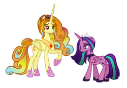 Size: 2180x1514 | Tagged: adagio dazzle, alicorn, alicornified, alternate cutie mark, alternate universe, aria blaze, artist:elementbases, artist:fantasia-bases, artist:flipwix, base used, dazzling, duo, ethereal mane, ponified, pony, race swap, raised hoof, role reversal, safe, simple background, the dazzlings, transparent background