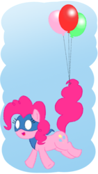 Size: 720x1280 | Tagged: artist:cartooniste2z, balloon, crossover, cute, diapinkes, earth pony, floating, flying, pinkie pie, pony, safe, snappy pie, solo, then watch her balloons lift her up to the sky