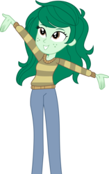 Size: 6146x9805 | Tagged: absurd resolution, artist:marcorois, clothes, equestria girls, equestria girls series, forgotten friendship, pants, safe, simple background, solo, sweater, transparent background, vector, wallflower blush