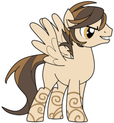 Size: 863x926 | Tagged: artist:didgereethebrony, base used, oc, oc:bronze filigree, pegasus, pony, safe, simple background, solo, trace, transparent background
