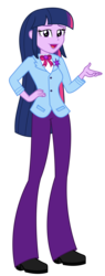Size: 1297x3425 | Tagged: artist:sketchmcreations, bow, clothes, commission, equestria girls, equestria girls interpretation, female, hand on hip, older, older twilight, princess twilight 2.0, raised arm, safe, scene interpretation, spoiler:s09e26, suit, the last problem, twilight sparkle, twilight sparkle (alicorn), vector
